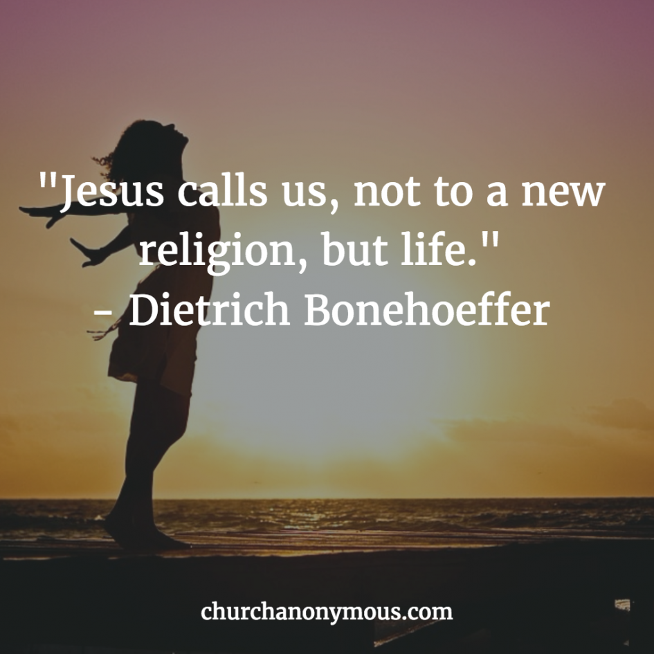 Bonhoeffer Quote about Religion