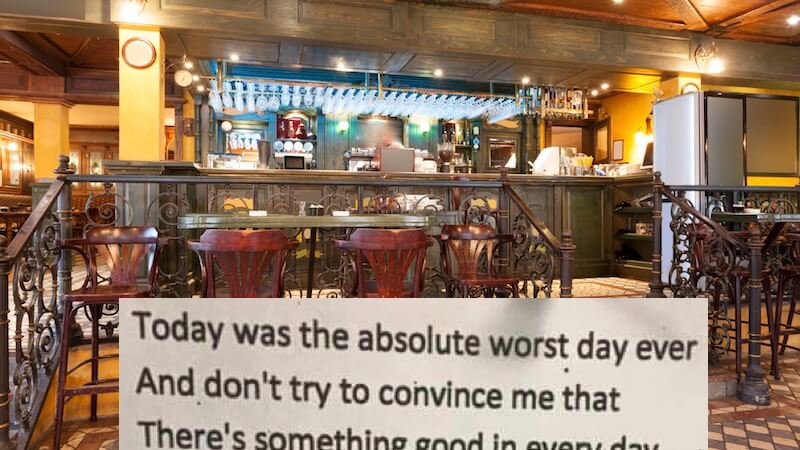 A Poem in a Bar - My Worst Day Ever?